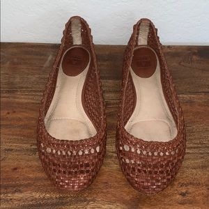 Frye Woven Leather Flats Shoes 8